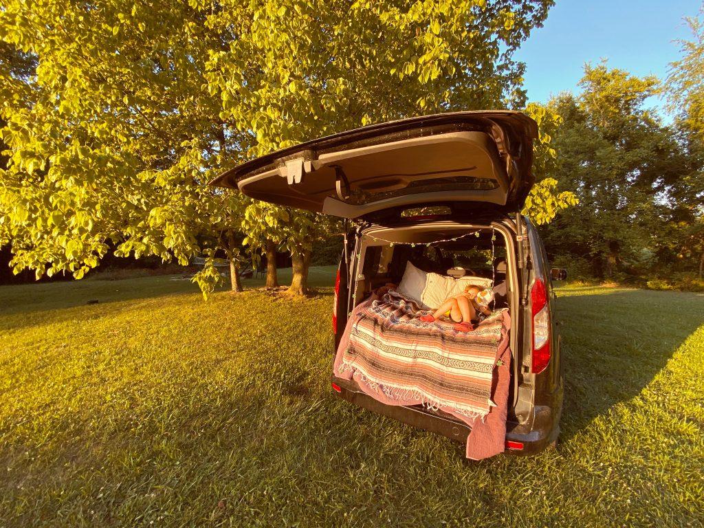 How To: Easy $86 Camper Van Bed Platform - Gone With My Babies
